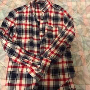 Red, white and blue flannel